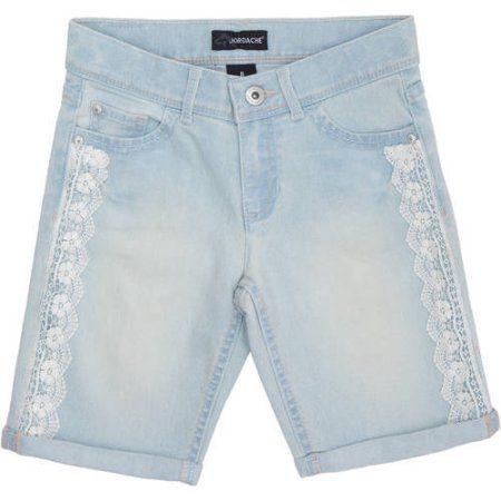 Jordache Girls Lace Detail Bermuda Short, Size: 16, Blue   Products ...