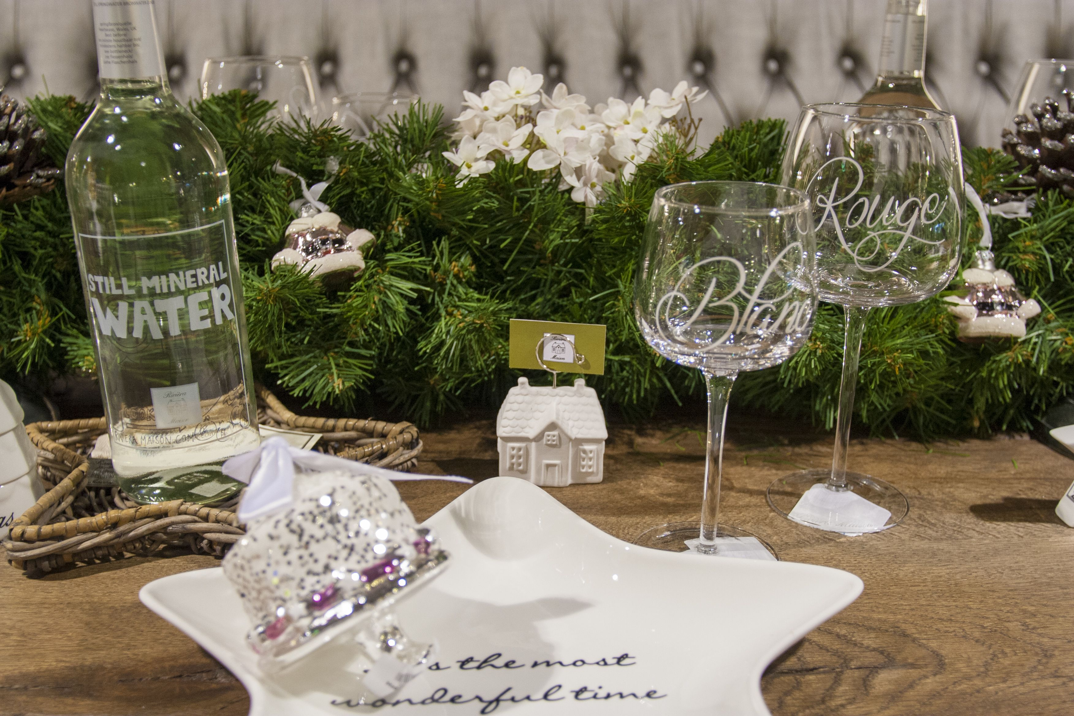Detail van de prachtige rivi ra maison kersttafel kerst for Woonboulevard wolvega