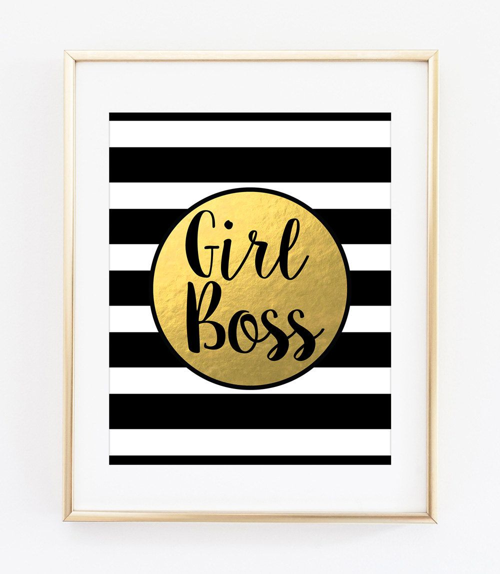 Girl Boss Printable Art Print Girl Boss Print Boss Lady Print Girl ...