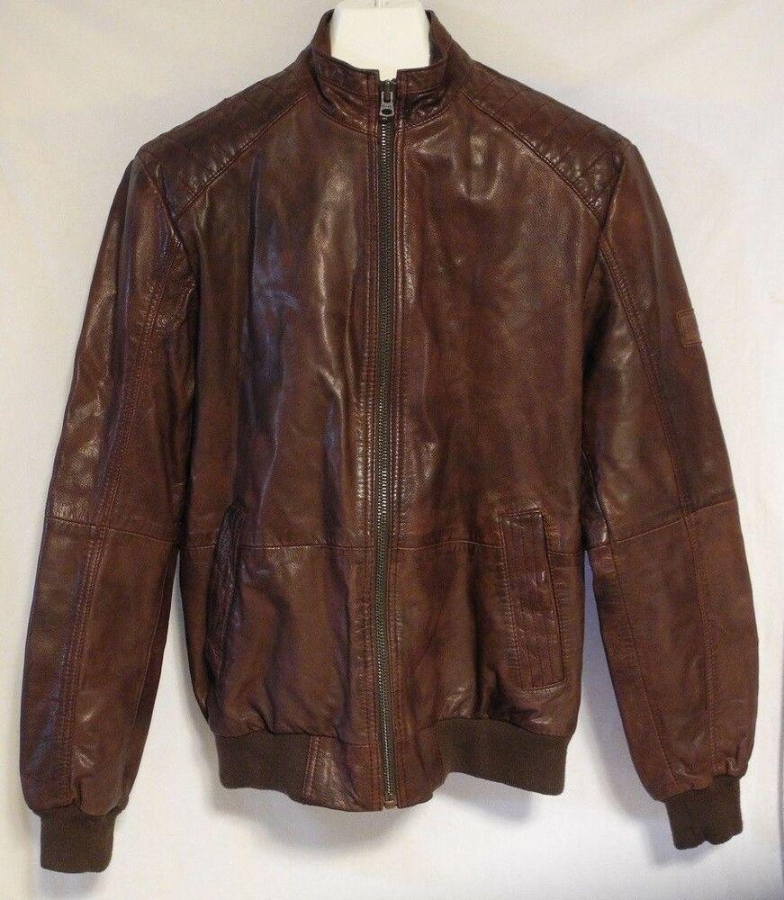 Wrangler Goat Leather Jacket Coat Cafe Racer Biker Bomber Mens Medium India Wrangler Motorcycle Leather Jacket Mens Leather Jacket Biker Jackets [ 1000 x 871 Pixel ]
