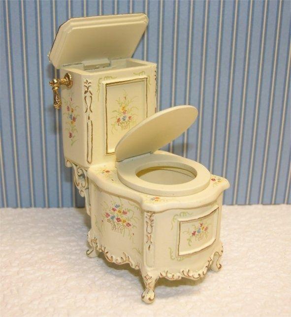 Edwardian Style Doll House Furniture Bathroom Toilet Claw Foot Tubs Old Sinks Bathroom