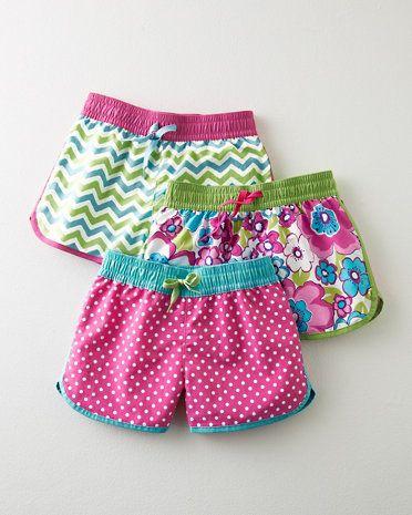 Seaside Board Shorts - Baby Girls & Girls
