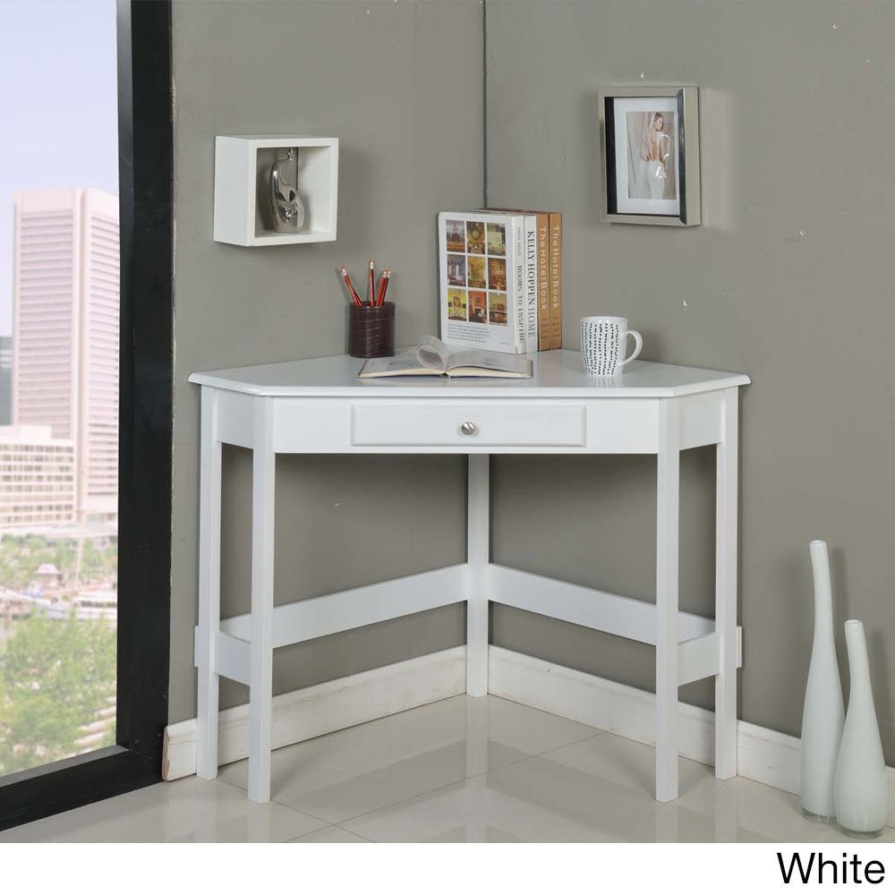 contemporary wood 1 drawer corner desk white products wood rh pinterest com