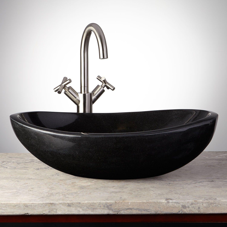 Curved Oval Polished Granite Vessel Sink | Grosenbaugh | Pinterest ...