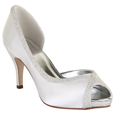 Buy Rainbow Club Carrie Satin Court Shoes Ivory Online At Johnlewis
