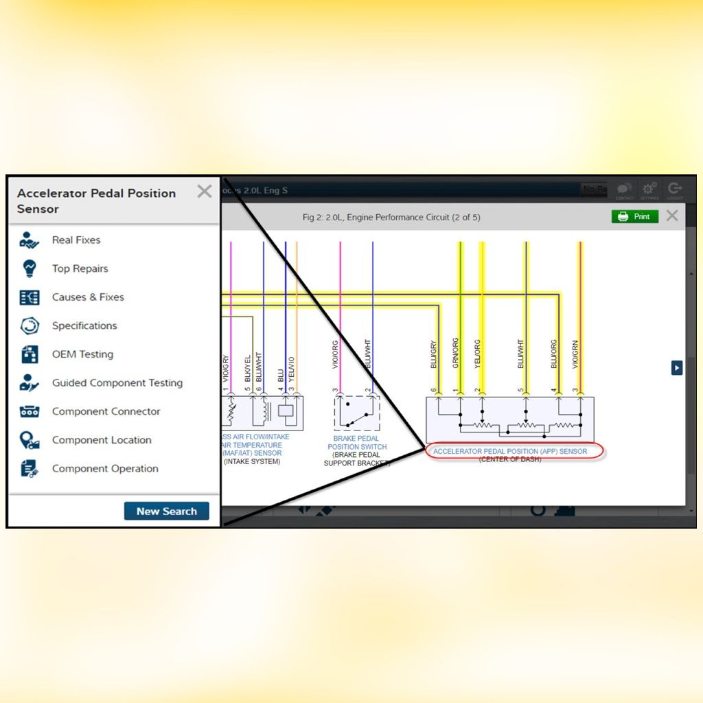 Wiring Diagrams Made Easy Mitchell 1 Prodemand Interactive Automotive Repair Diagram