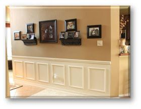 Gallery Wall With White Wainscoting Tan Walls Diy Wainscoting Home Diy Home