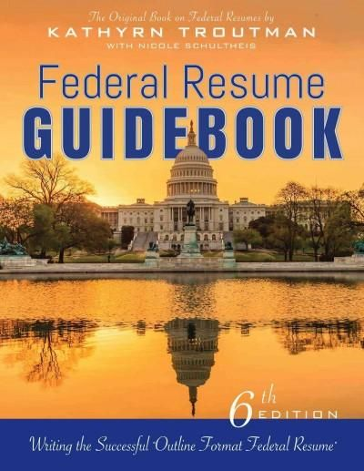 Federal Resume Guidebook Writing the Successful Outline Format - sample federal resume