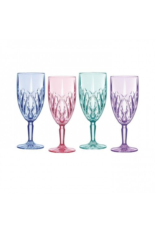 Marquis by Waterford Brookside Pastels Iced Beverage, Set of 4 ...
