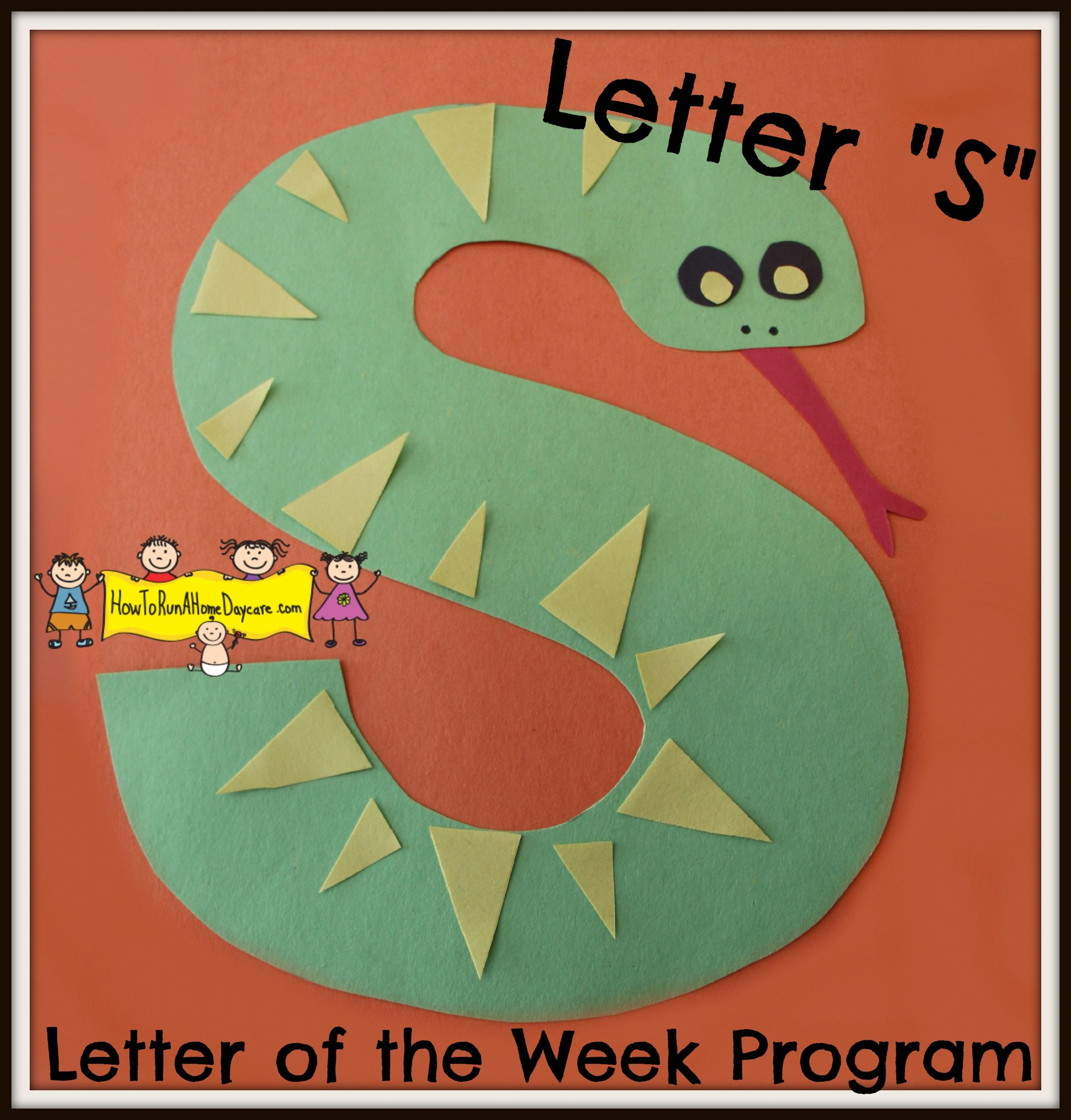Letter s arts and crafts for preschoolers - Letter S Letter Of The Week Program