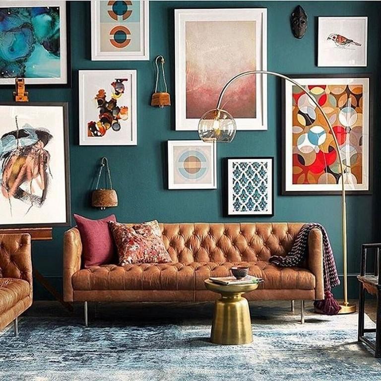 45+ Creative Living Room Wall Gallery Design Ideas | Rooms ... on Creative Living Room Wall Decor Ideas  id=89222
