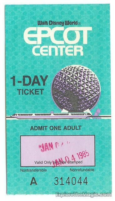 Epcot Ticket My Birthday
