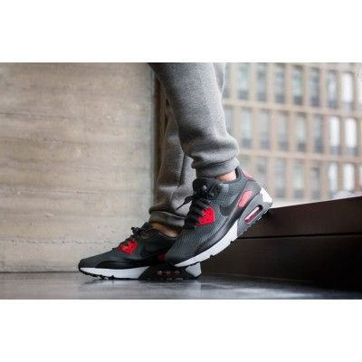size 40 951e2 442b3 Nike Air Max 90 Ultra 2.0 Essential Mens Anthracite Black University Red  Trainers Hot Sell