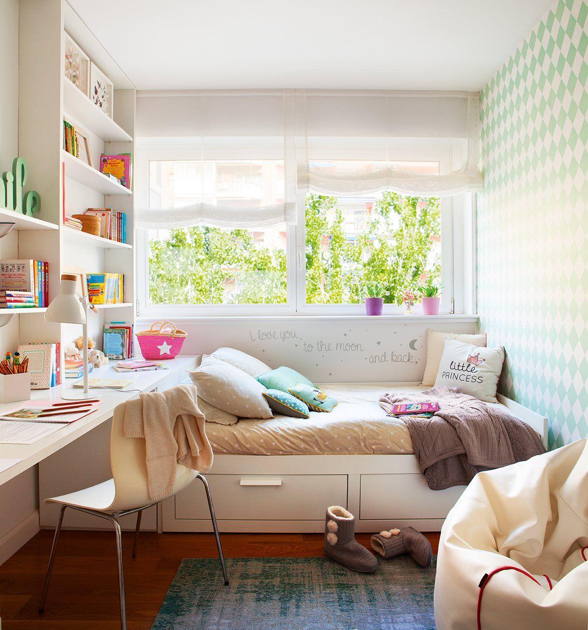 Habitaci n de la ni a cama ikea infantil dormitorio for Armario habitacion nina