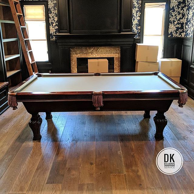 Foot Beach Manufacturing Mirage Pool Table With Steel Grey Cloth - Beach manufacturing pool table