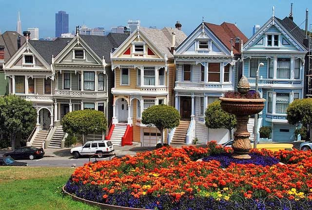 Las Famosas Painted Ladies De San Francisco House Styles Architecture House