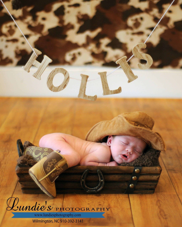 2cdb247c95405 Newborn Photography Baby Cowboy