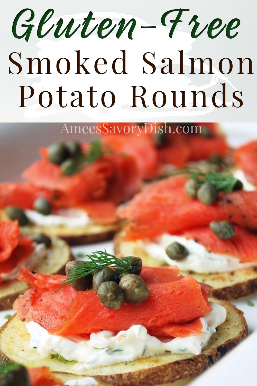 Smoked Salmon Potato Rounds Recipe Easy Appetizer Recipes Delicious Appetizer Recipes Appetizer Recipes