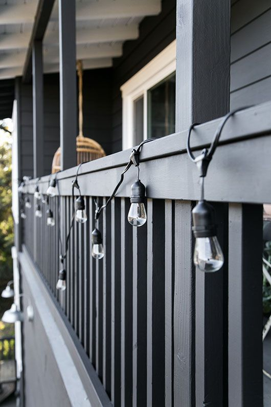 Paint It Black Black House Black House Exterior Porch Colors