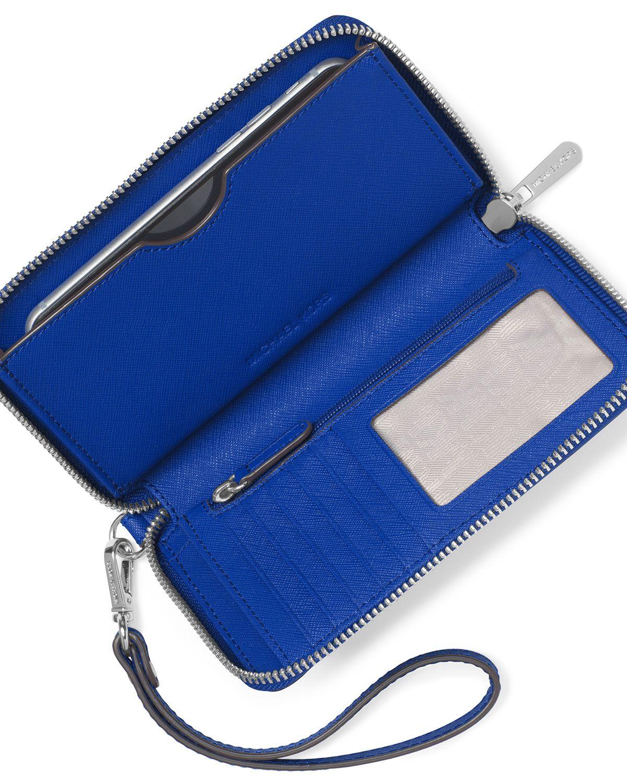 7d230deb99cb MICHAEL Michael Kors Jet Set Travel Continental Wristlet Wallet, Electric  Blue