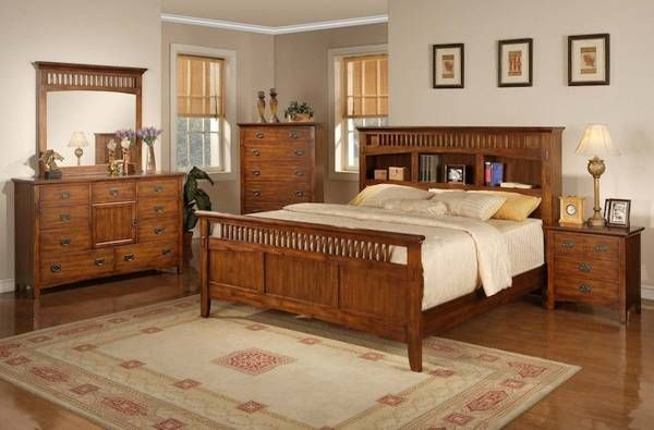 Amazing Mission Style Bedroom Furniture Cherry Be Homezz In Broyhill ...