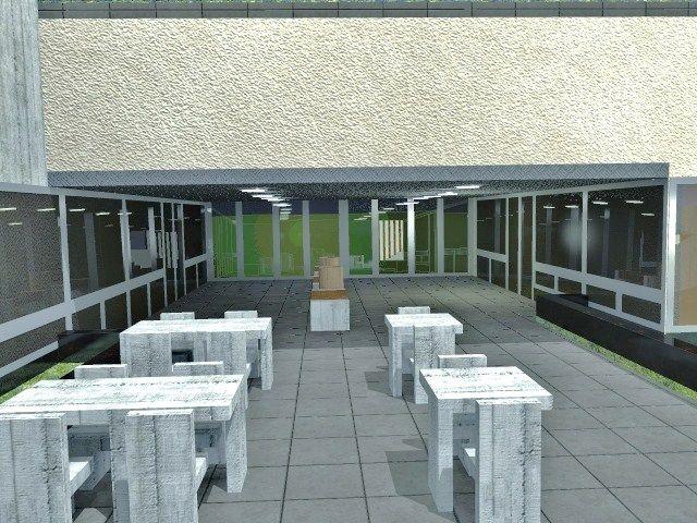 proyecto de equipamiento urbano, re modelacion de la entrada universitaria. Para el 2 año de diseño de interiores, Universidad de Belgrano. by Belmar Pardo