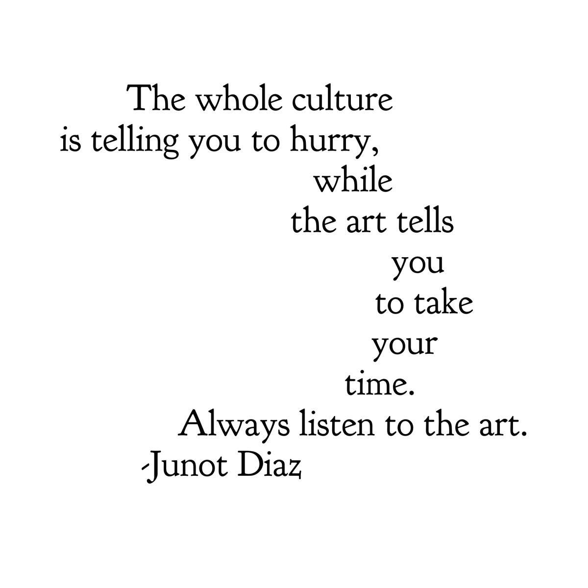 Paint Drops Artist's Quote Junot Diaz Artist quotes