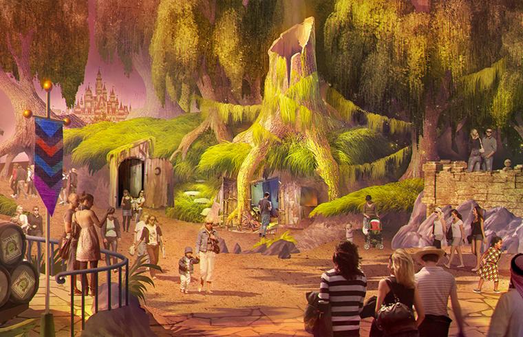 Shrek's swamp at Motiongate Dubai