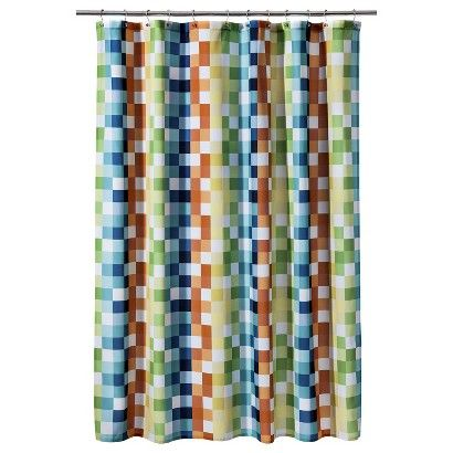 Circo Blocks Multicolor Shower Curtain 19 99 Target Com It S