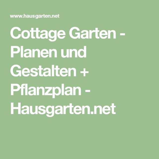 cottage garten - planen und gestalten + pflanzplan, Hause und Garten