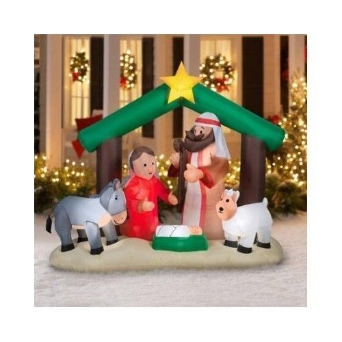Airblown Inflatable Holy Family Nativity Scene Christmas Decoration - inflatable christmas yard decorations