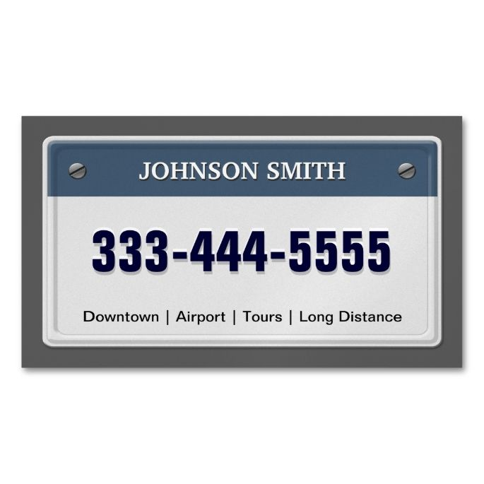 Limo taxi service cool licensed plate magnetic business card limo and taxi service cool licensed plate magnetic business cards pack of 25 i love this design it is available for customization or ready to buy as colourmoves