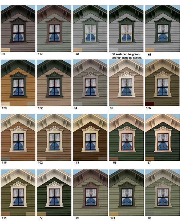 Exterior House Colors Consultations Old House Guy offers a variety ...