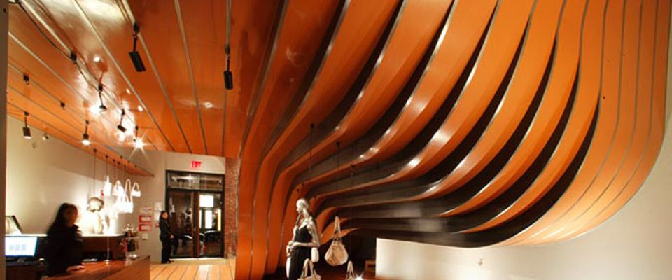 Ceiling + stairs Soho, NY Longchamp