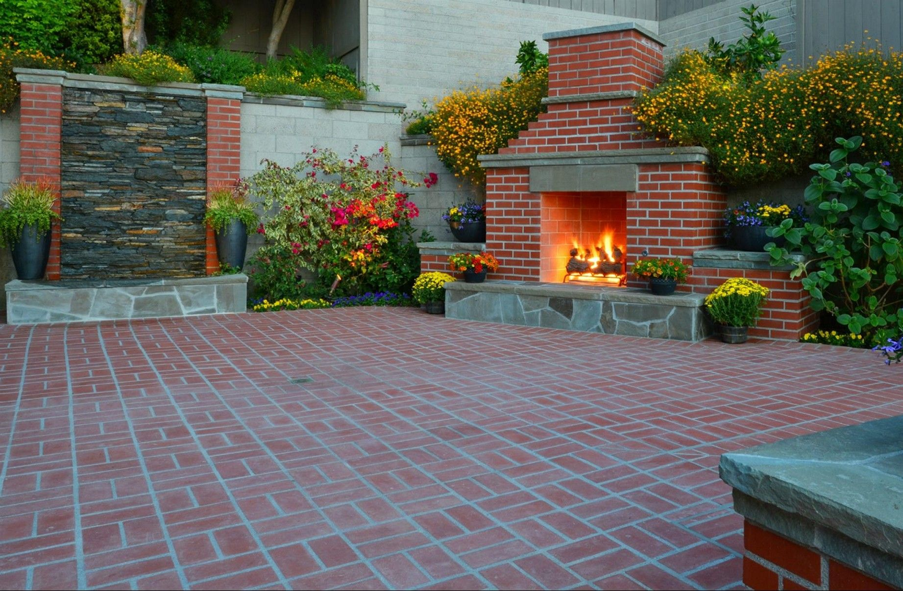 Red Brick Patio Designs | Tyres2c on Red Paver Patio Ideas id=87376