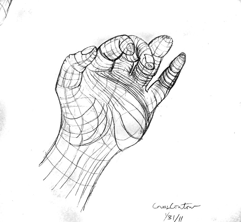 Contour Drawing of Hand | Contour Drawings | Pinterest | Contour ...
