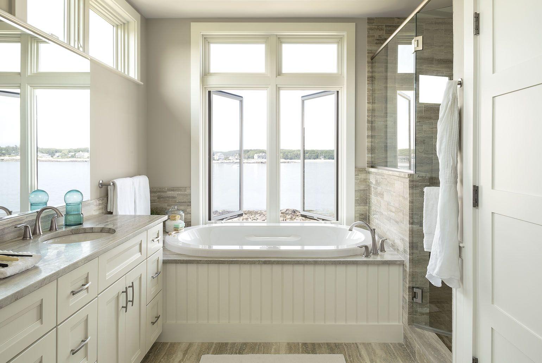In The Firstfloor Master Bath Windows On The Streetfacing Wall - Master bathroom windows