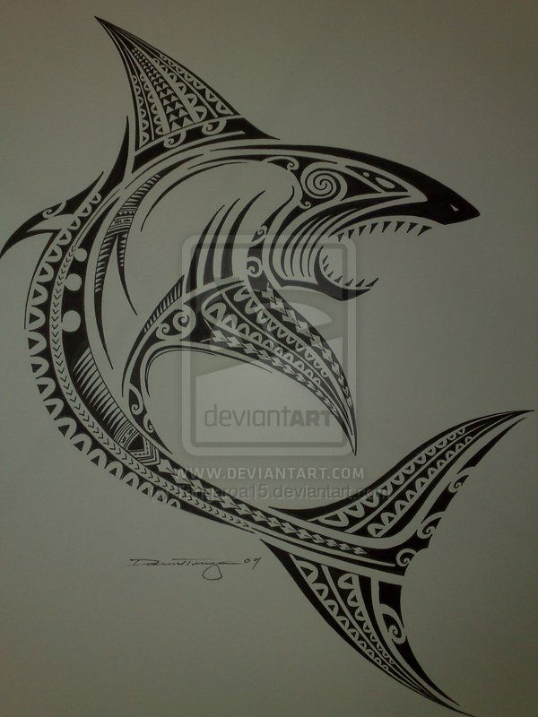 polynesian shark by tangaroa15 on deviantart maori tattoo rh pinterest co uk polynesian tattoo shark teeth polynesian tattoo shark teeth