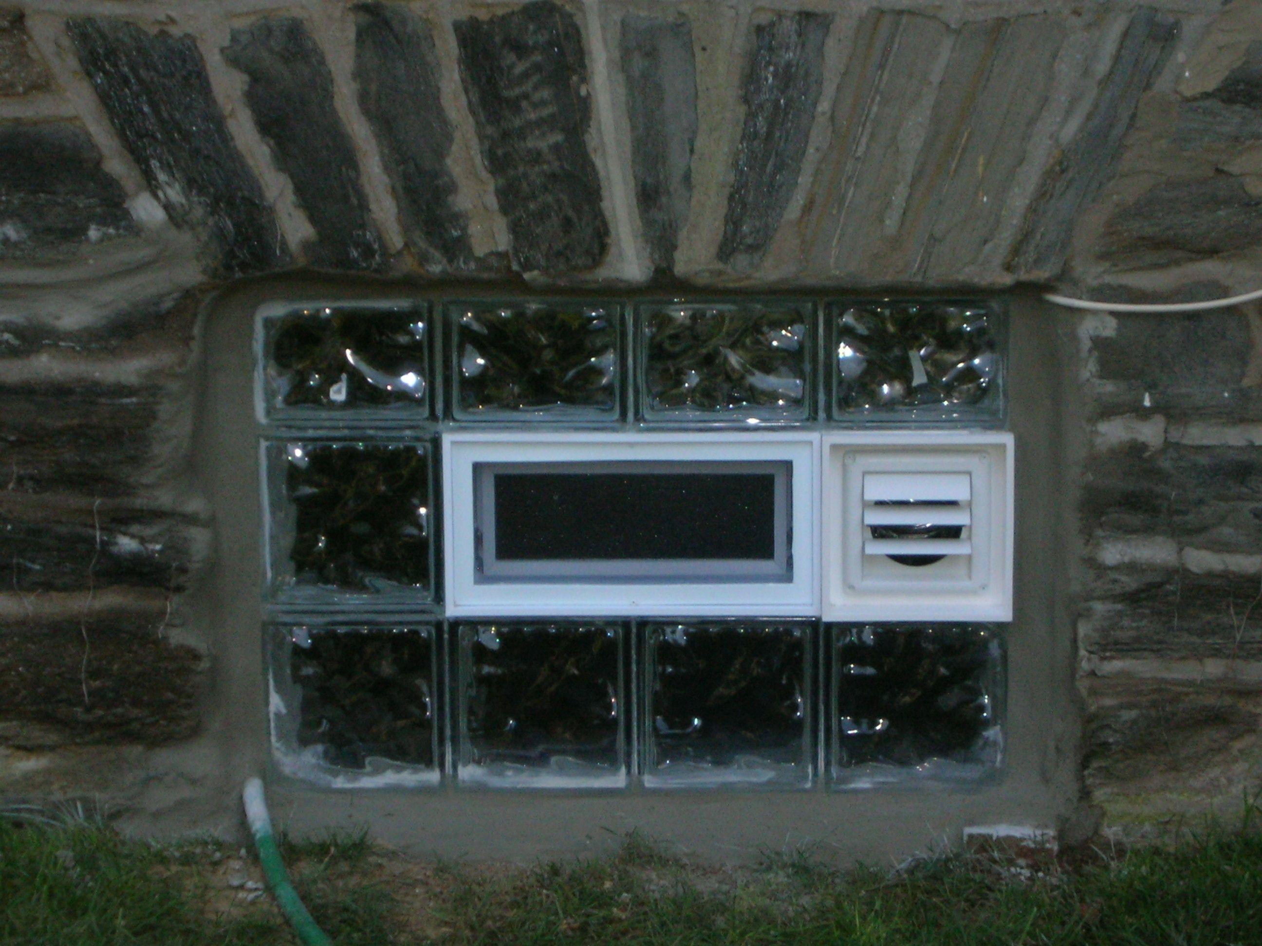 Glass Block Basement Window Dryer Vent Glass Block Basement Windows Basement Windows Dryer Vent