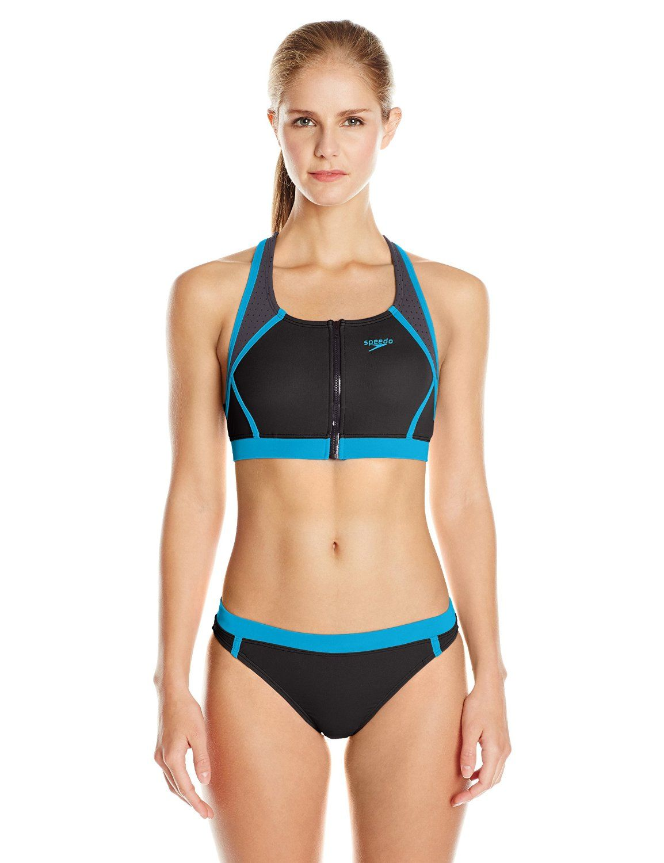 519d262b9270b Amazon.com : Speedo Women's Endurance Lite Perforated Two Piece ...