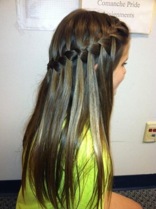 Dark waterfall braid hairstyles and beauty tips hair pinterest dark waterfall braid hairstyles and beauty tips ccuart Images