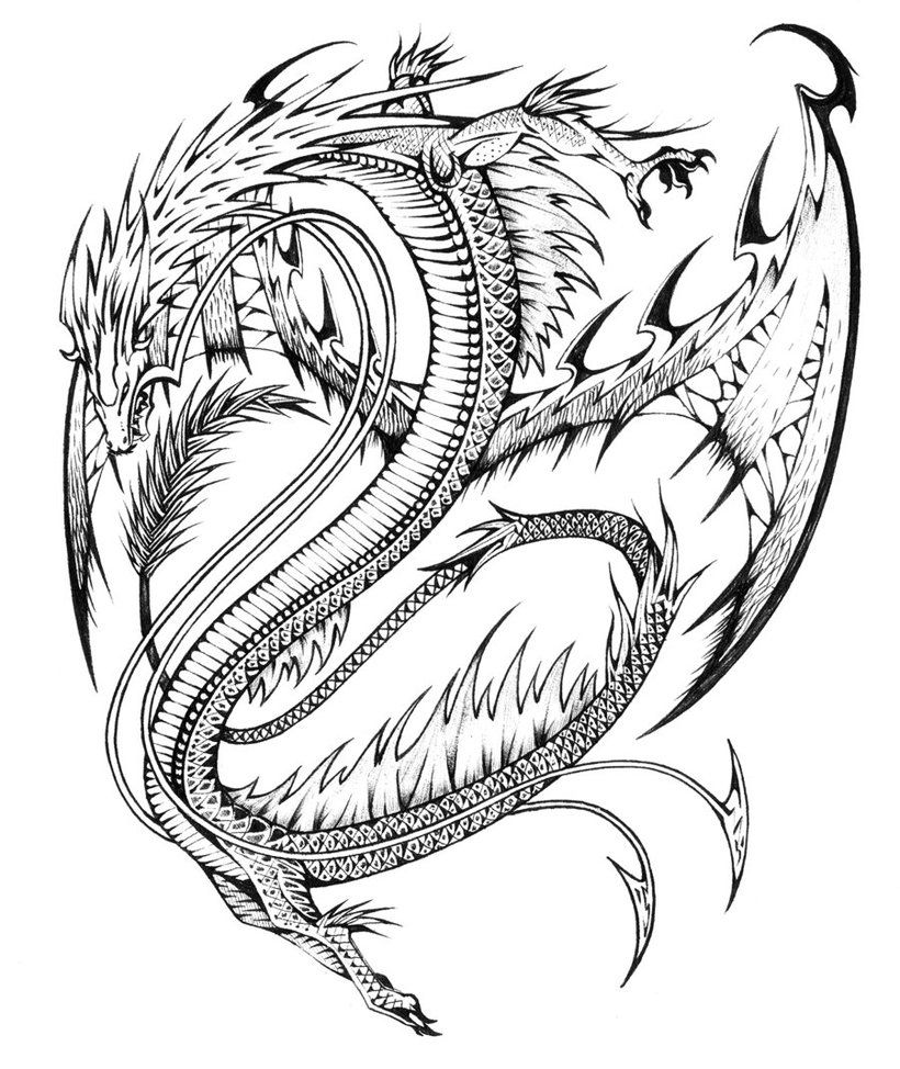 Realistic Dragon Coloring Pages | Coloring Pages | Pinterest ...
