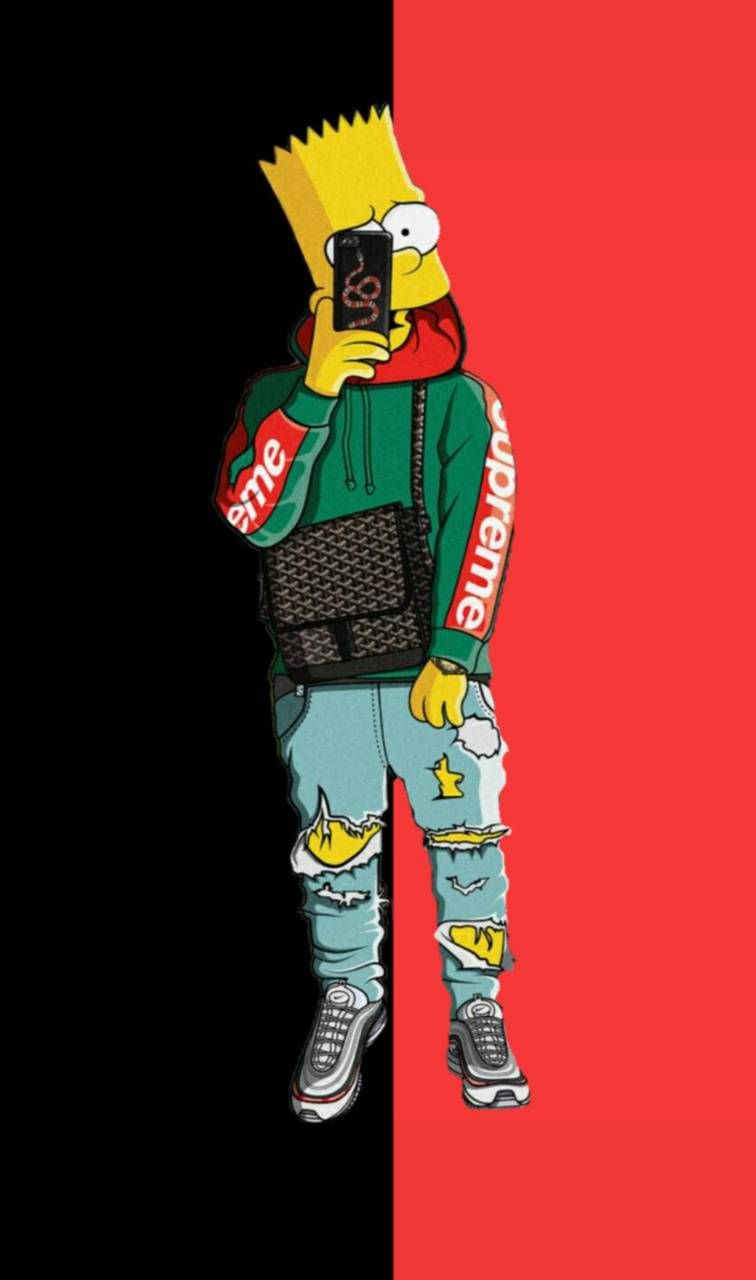 65 Bape Bart Simpson Wallpapers Download At Wallpaperbro Bart Simpson Art Supreme Wallpaper Bart Simpson