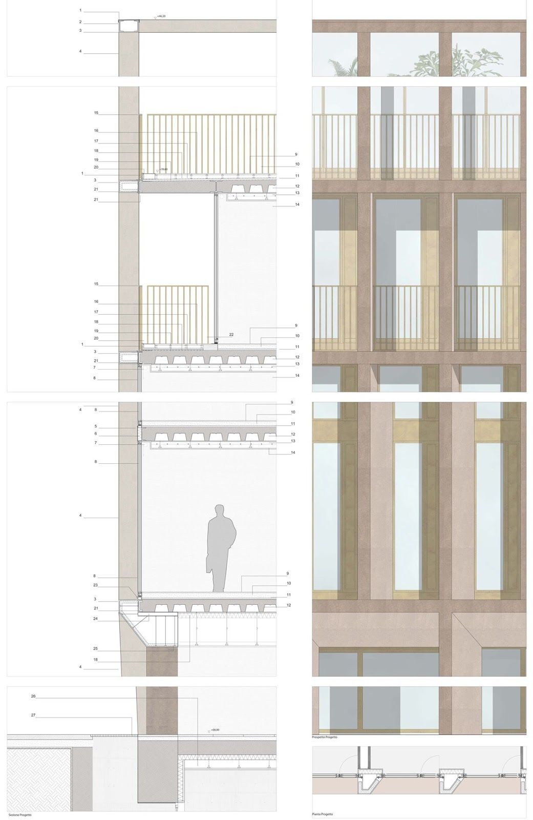 Onsitestudio Architecture drawing, Architectural section