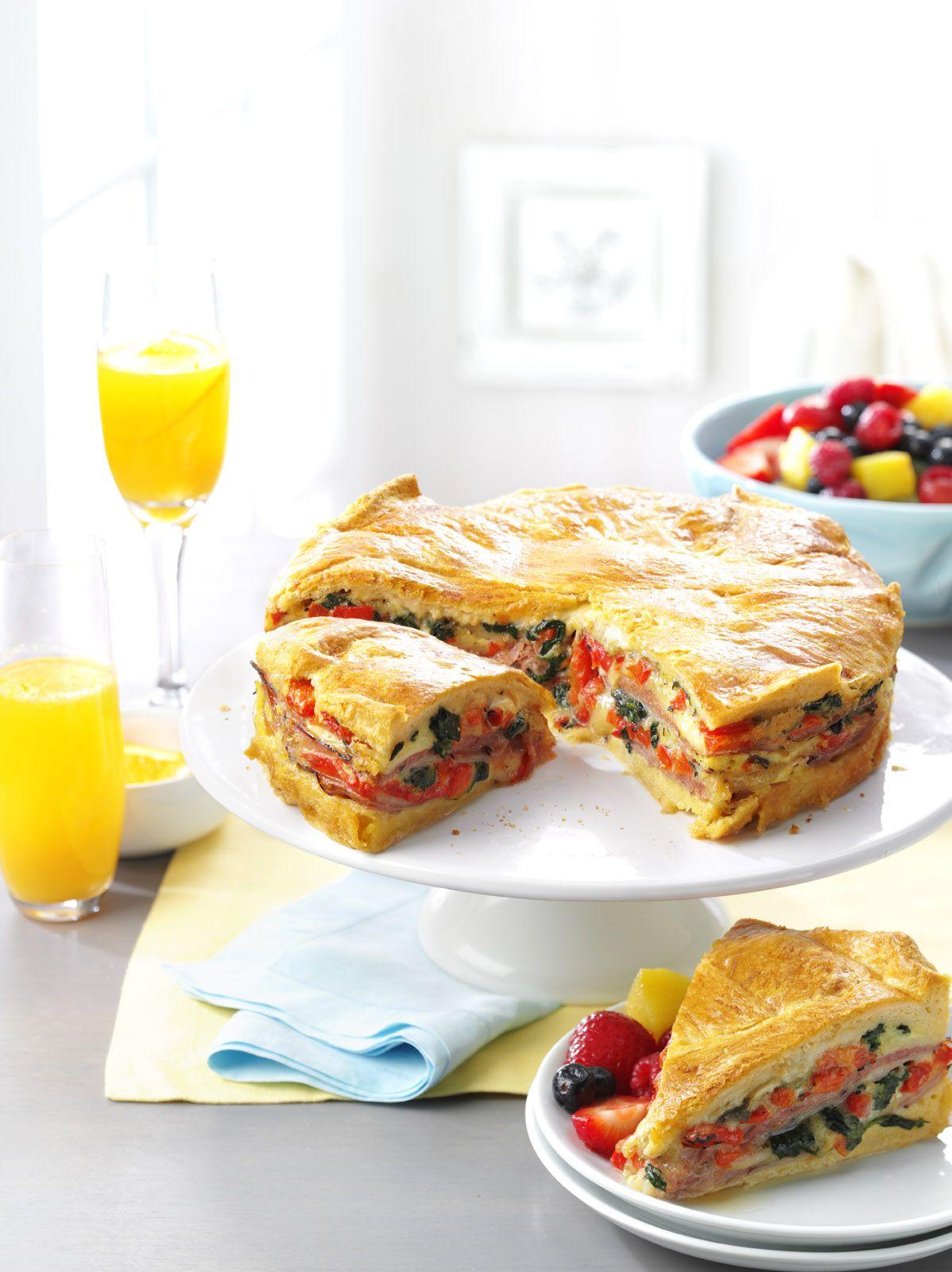 Italian Brunch Torte Recipe from Taste of Home   Breakfast and ...