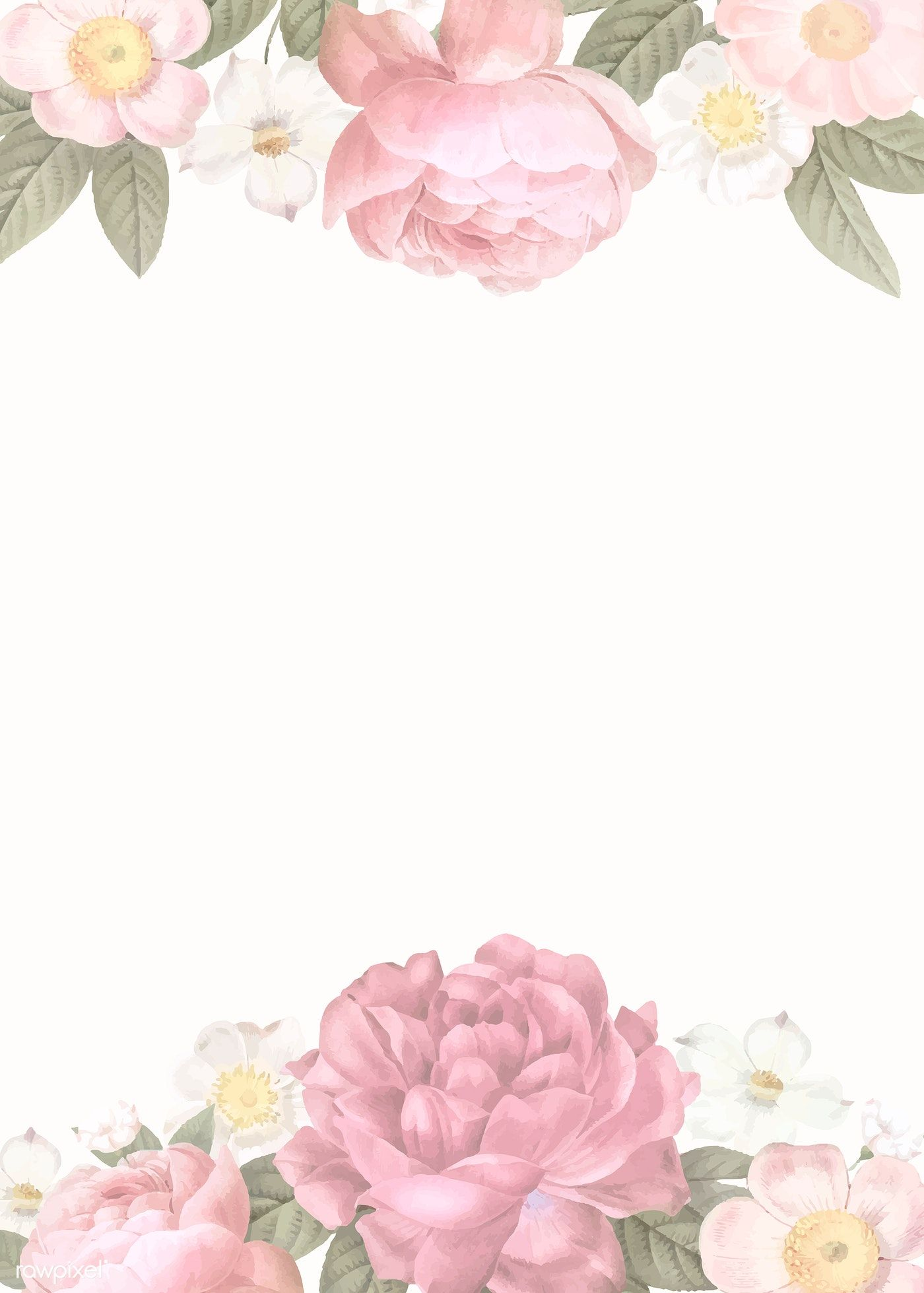 Download premium vector of Elegant floral frame design
