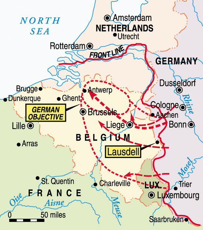 of the german breakthrough in the ardennes forest was to effect a crossing of the river meuse and capture the important supply port of antwerp belgium