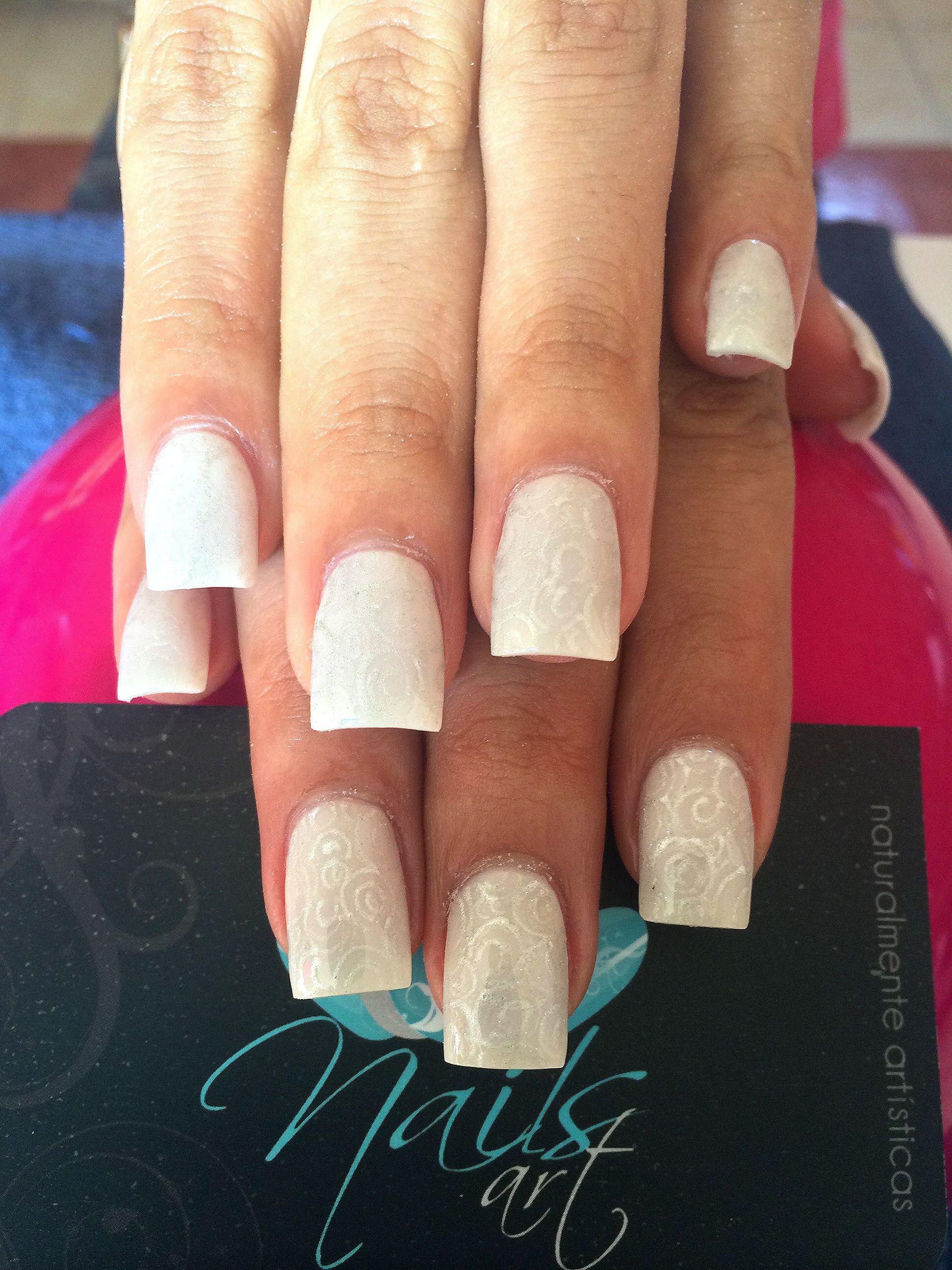 Acrylic nails, nails art, nails, wedding nails | Nails | Pinterest ...