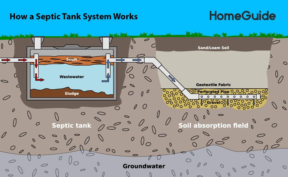 How A Septic Tank Works In 2020 Septic Tank Systems Septic Tank Concrete Septic Tank