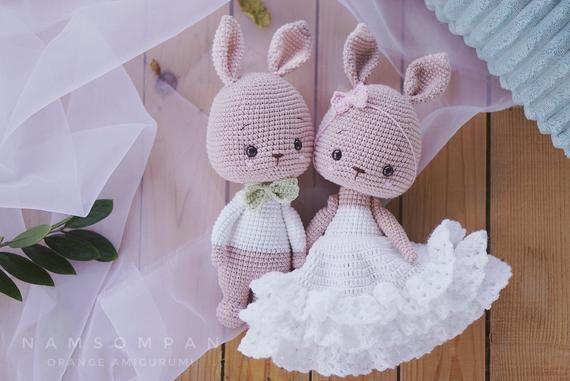 Wedding Bunny Pattern | Etsy